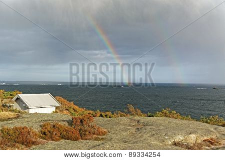 Double Rainbow Over The North Sea