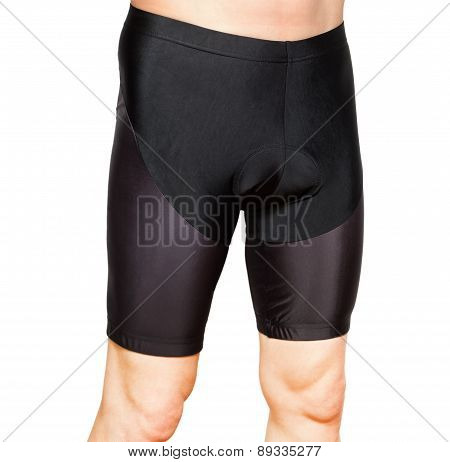 Men In Black Tight Cycling Shorts