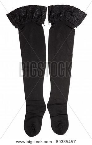 Pair Of Black Nylon Stocking