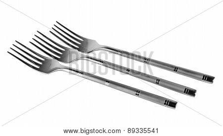 Three Steel Fork