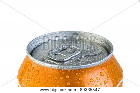 Metal Jar Drink With Droplets Of Water