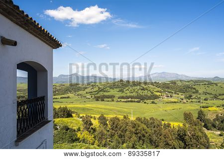Natural Landscape, Valley, Blue Sky, Green Fields, Spring