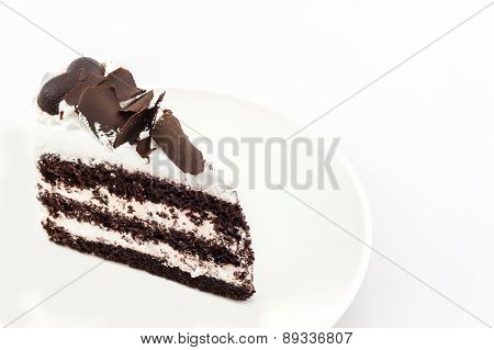 Chocolate Cake Slice .