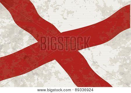 Alabama Sate Flag Grunge