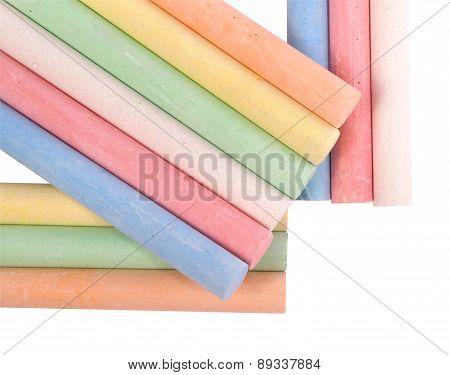 Colored Sidewalk Chalks (clipping Path)