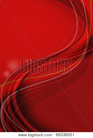 Falling beam curved stripes on red gradient background