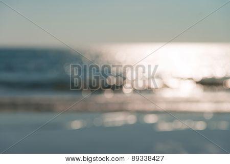 Blur Defocused Of The Beach In Afternoon