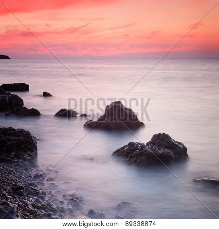 Seascape At Sunset