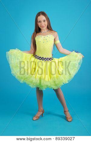 Young Girl In Ballroom Dress