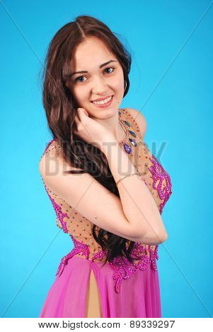 Young Girl In Evening Dress