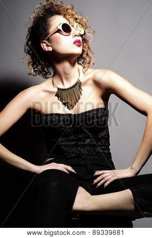Woman In Fruit Glasses