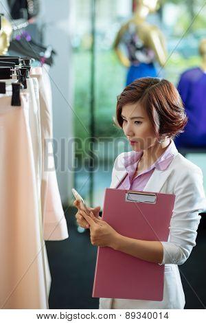 Examining clothes