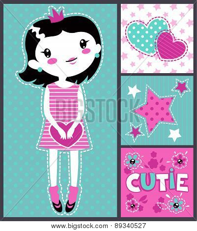 Cute Girlish Illustration