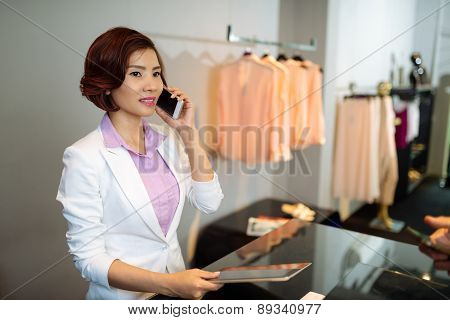 Clothing shop manager