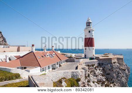 Europa Point Lighthouse On Gibraltar
