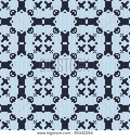 Filet Crochet Lace Design. Seamless Pattern