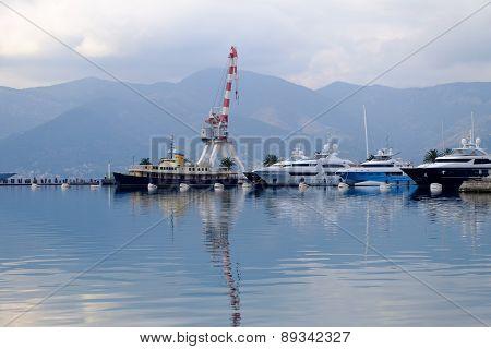 Marina In Porto Montenegro. Tivat City