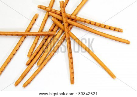 Breadsticks Isolated On White