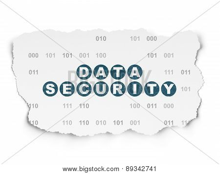 Security concept: Data Security on Torn Paper background