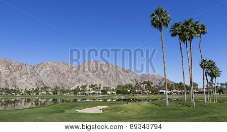 Golf course view at the ANA inspiration tournament