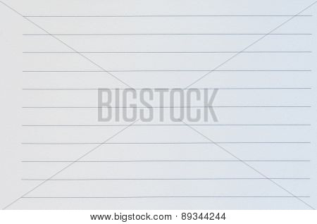 Close Up Of Blank Lined Paper