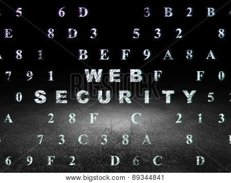 Security concept: Web Security in grunge dark room