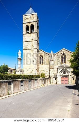 church of St-Laurent, Roujan, Languedoc-Roussillon, France