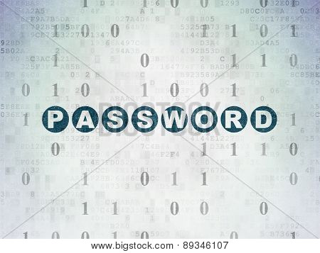 Privacy concept: Password on Digital Paper background