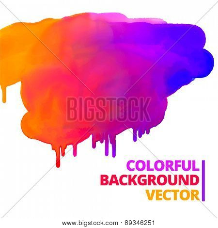 flow of paint colors ink splash vector design illustration