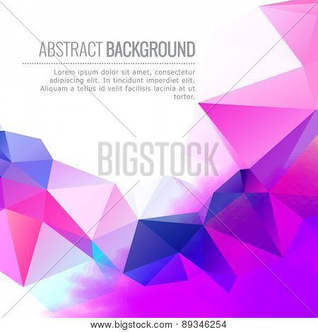 abstract colorful vector design background illustration