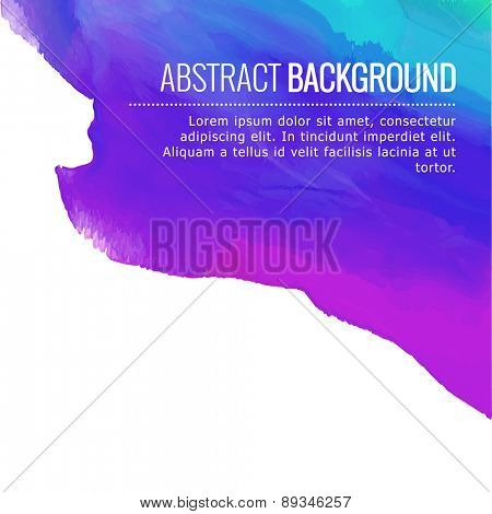 abstract colorful ink background design with space for your text