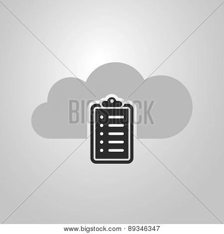 Cloud Computing Concept Design with Checklist Icon