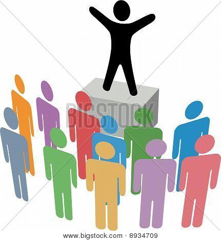Group Announcement Communication Campaign Soapbox
