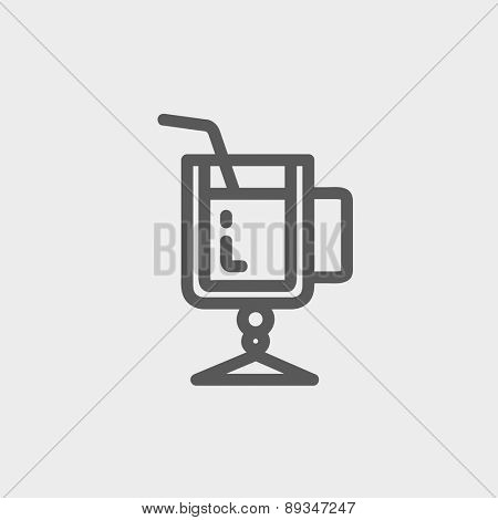Lime juice icon thin line for web and mobile, modern minimalistic flat design. Vector dark grey icon on light grey background.