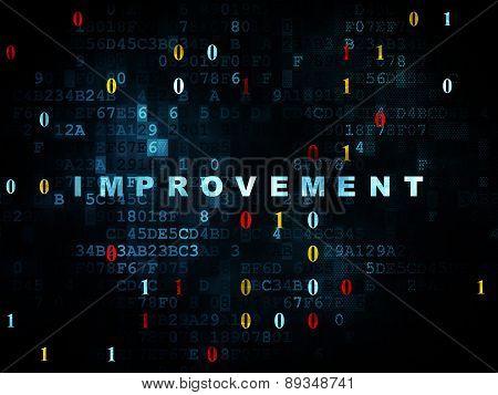 Finance concept: Improvement on Digital background