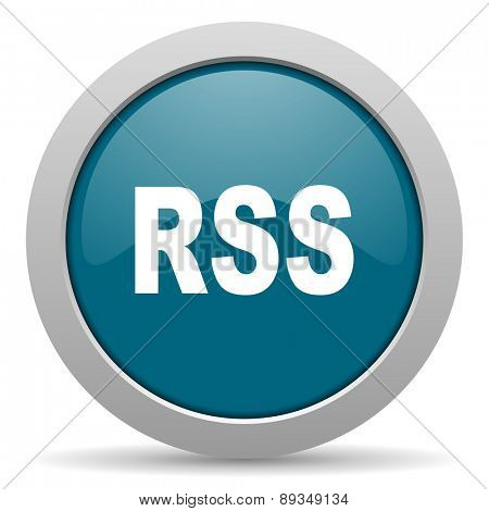 rss blue glossy web icon