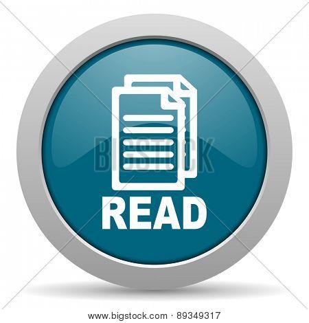 read blue glossy web icon