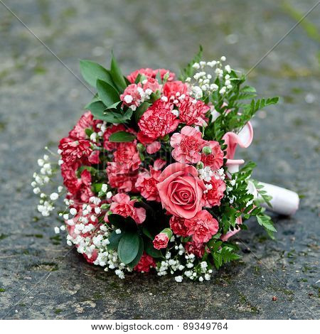 Wedding Bouquet Of Red Flowers