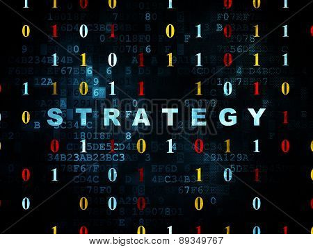 Business concept: Strategy on Digital background