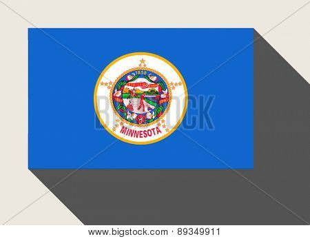 American State of Minnesota flag in flat web design style.