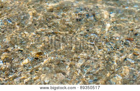 Texture Background Of Water Wave On Sand