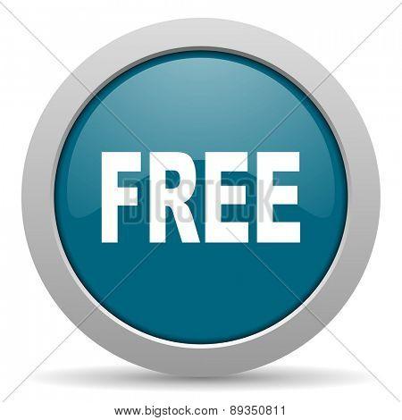 free blue glossy web icon