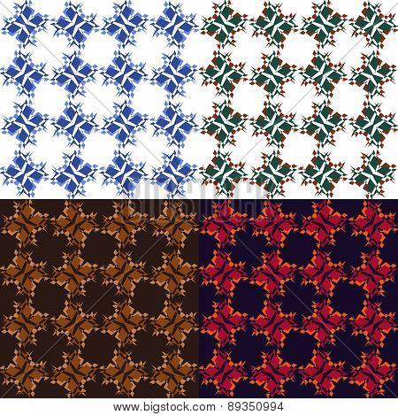 Set Of Seamless Abstract Pattern