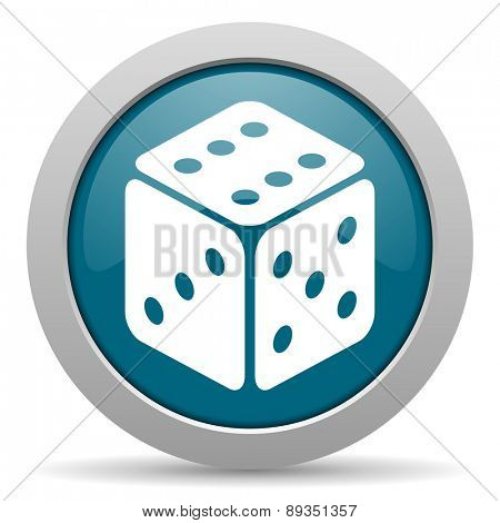 game blue glossy web icon