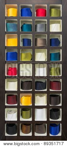 Selection Of Colorful Ties