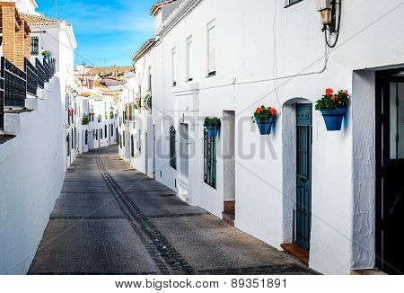 Picturesque Street Of Mijas