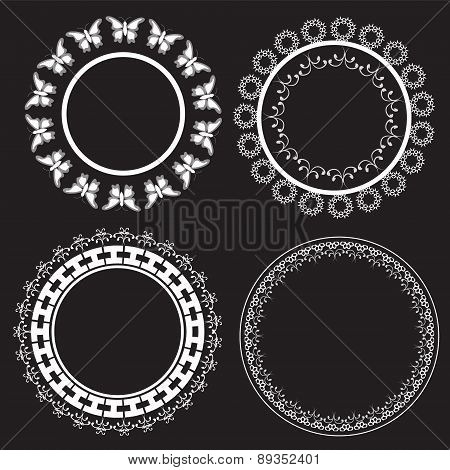 Vintage Round Frames - Illustration