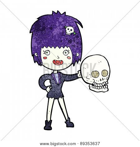 cartoon halloween vampire girl