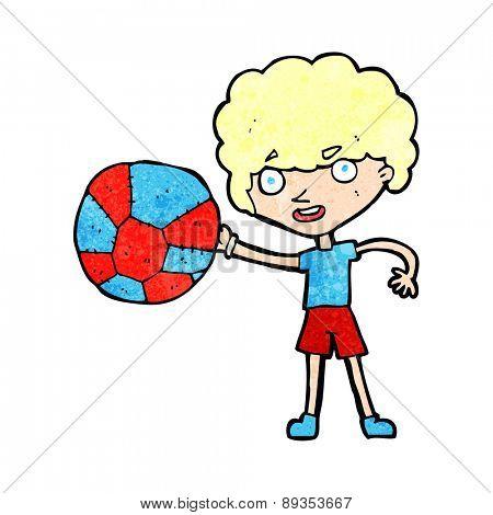 cartoon boy and ball