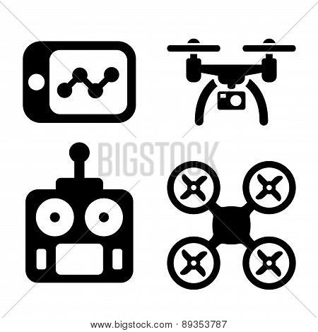 Quadrocopter Icons.